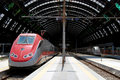 Ferrocarril central de Milano Foto de archivo