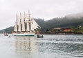 FERROL, SPAIN - FEBRUARY 15: Spanish Navy Training Ship, Juan Se Stock Image