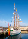 FERROL, SPAIN - FEBRUARY 16: Spanish Navy Training Ship, Juan Se Royalty Free Stock Photos