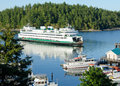Ferry arrives at Firday Harbor Royalty Free Stock Photo