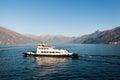 Ferry Boat On Como Lake Near T...