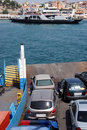 Ferry boat ramp Royalty Free Stock Photo