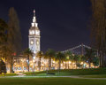 Ferry building san francisco at night Stock Photos
