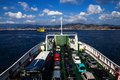 Ferry crossing the Messina Strait Royalty Free Stock Photo