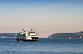 Ferry Crossing the Puget Sound Royalty Free Stock Image