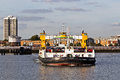 Ferry crossing woolwich london october the takes passengers across the thames on october in london todays is licensed by tfl Royalty Free Stock Image