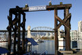 The ferry dock on granville island Royalty Free Stock Photography