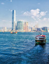 Ferry  Hong Kong Royalty Free Stock Photo