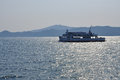 Ferry in the inland sea japan japanese boat Stock Images
