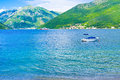 The ferry in Kotor bay Royalty Free Stock Photo