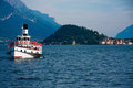 Ferry on lake Como Stock Photo