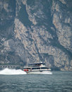 Ferry on Lake Garda Stock Photography