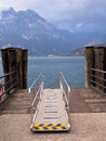 Ferry Landing Stage Lake Garda, Italy Royalty Free Stock Photography