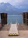 Ferry Landing Stage Lake Garda, Italy Royalty Free Stock Photo