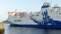 Ferry ship aberdeen scotland leaving harbor in Royalty Free Stock Photography