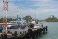 Ferry terminal,Ferry travel over land from Koh Samui to Surat thani Royalty Free Stock Photo