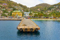 A ferry wharf in the caribbean Royalty Free Stock Photo