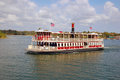 Ferryboat leaving magic kingdom in florida Royalty Free Stock Images