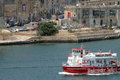 Ferryboat malta a in the valletta harbour Royalty Free Stock Image