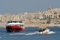Ferryboat malta a in the valletta harbour Royalty Free Stock Photography