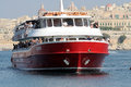 Ferryboat malta a in the valletta harbour Stock Images
