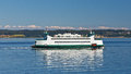 Ferryboat ride in washington state on a summer day Stock Image