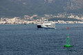 Ferryboat sailing near Igoumenitsa port Royalty Free Stock Photo