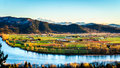 The fertile farmland of the Fraser Valley in British Columbia Royalty Free Stock Photo