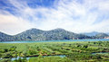 Fertile valley in mountains of montenegro europe Stock Photo