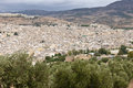 Fes old city with cemetery - Marocco Stock Photography
