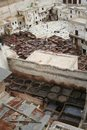 Fes tanneries #1 Stock Photography