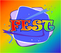 Fest logo Stock Photography