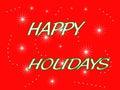 Festa felice rossa Fotografia Stock Libera da Diritti