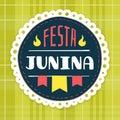 Festa Junina, brazilian june fest badge