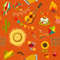 Festa junina seamless pattern.