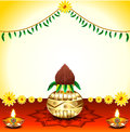 Festival background with kalash vector illustration Royalty Free Stock Images