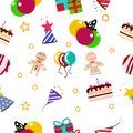Festival celebration party of happiness pattern seamless abstrac
