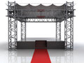 Festival open air stage with red carpet for celebrities illustration Royalty Free Stock Photography