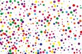 Festival pattern with color round glitter, confetti. Random, chaotic polka dot. Bright background  for party