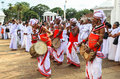 Festival of pilgrims in anuradhapura srilanka this photo was taken on september th is an ancient city located at a distance km Stock Images
