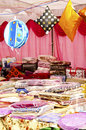 Festival Season - Handloom Shop Royalty Free Stock Image