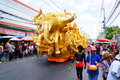 Festival site candles carved contest traditional parade candle province of nakhon ratchasima in thailand Royalty Free Stock Photo