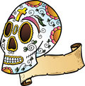 Festival Skull tattoo style illustration Stock Photo