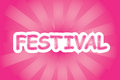 Festival vector writing of with red pinkish color Royalty Free Stock Photos