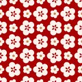 Japanese Cute Big Cherry Blossom Pattern