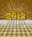 Festive 2013 card Royalty Free Stock Photo