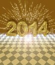 Festive 2014 card Royalty Free Stock Photo