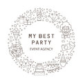 Festive agency is my best party. Party symbols for children and adults.