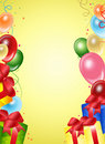 Festive background from balloons Stock Photos