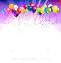 Festive background with balloons colorful Royalty Free Stock Photos